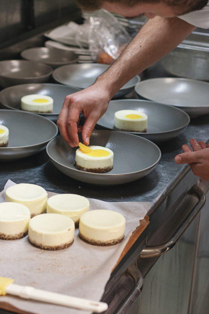 desserts dans les cuisine de l'Instant Nantes